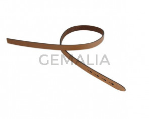 Leather cord strand for buckle clasp 430x10mm. Light Brown-black edges. Best Quality