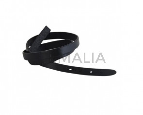 Leather cord strand for buckle clasp 590x10mm. Black-black edges. Best Quality