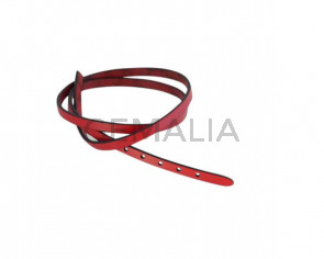 Leather cord strand for buckle clasp 590x6mm. Red-black edges. Best Quality