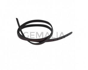 Leather cord strand for buckle clasp 590x6mm.Dark Brown -black edges. Best Quality