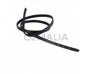 Leather cord strand for buckle clasp 590x6mm. Navy Blue-black edges. Best Quality