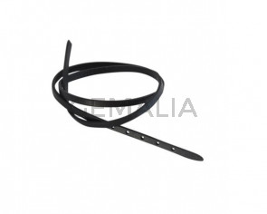 Leather cord strand for buckle clasp 590x5mm. Black-black edges. Best Quality