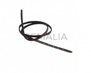 Leather cord strand for buckle clasp 590x5mm. Dark Brown-black edges. Best Quality