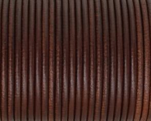 Round Leather cord 2.5mm. Brown. Best Quality.