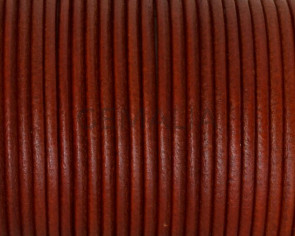 Round Leather cord 2.5mm. Orange. Best Quality.