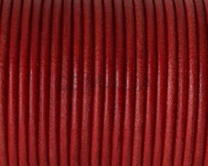 Round Leather cord 2.5mm. Red. Best Quality.