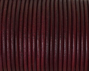 Round Leather cord 2.5mm. Burdeous. Best Quality.