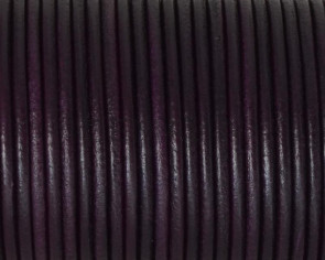Round Leather cord 2.5mm. Plum. Best Quality.