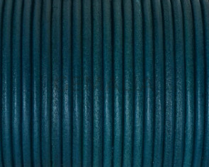 Round Leather cord 2.5mm. Turquoise. Best Quality.