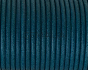 Rounud Leather cord 3mm. Turquoise. Best Quality