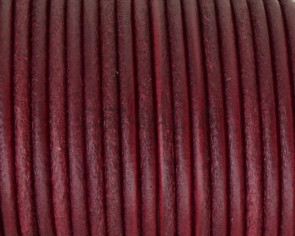 Rounud Leather cord 3mm. Burdeous. Best Quality