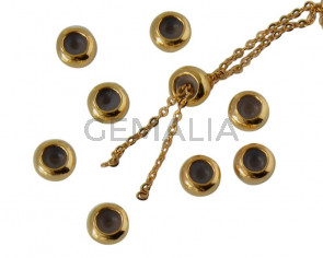 Metal bead Brass bead stopper 5.7x3.1mm. Gold. Inn.1.2mm