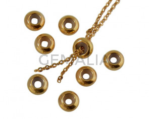 Metal bead Brass bead stopper 5.8x2.8mm. Gold. Inn.2mm