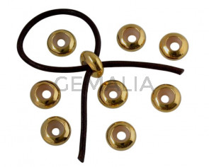 Metal bead Brass bead stopper 10x4.2mm. Gold. Inn.3mm