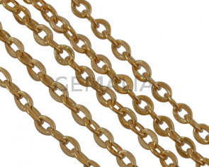 Brass chain 1.6x1.2mm. Gold.