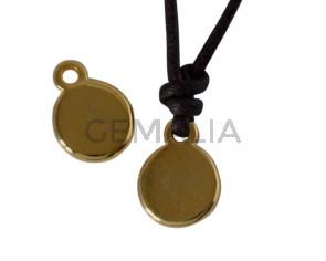 Zamak connector coin 11x8mm. Gold. Inn.1.8mm