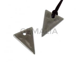 Metal pendant Zamak triangule 20x15mm. Silver. Inn.2mm