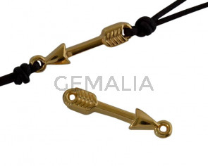 Zamak connector arrow 16x5mm. Gold. Inn.1.8mm