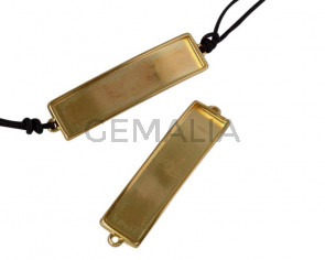 Zamak connector 52.5x12.6mm. For 10x2mm leather. Gold. Inn.1.5mm