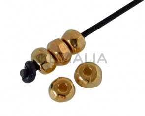 Metal bead Zamak rondell 4.5x3mm. Gold. Inn.1.5mm