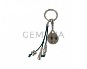 KEY RING leather cord-zamak