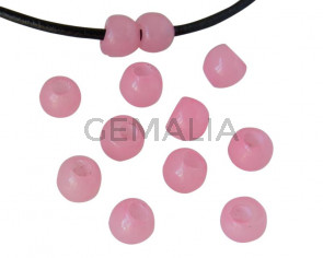 Round Resin 7x7x5mm. Opaque pink. Inn.3mm aprox. Best Quality.