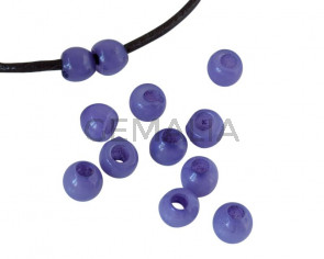 Round Resin 7x7x5mm. Opaque lilac. Inn.3mm aprox. Best Quality.