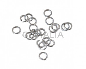 Open Jump Ring Brass 7x1.2mm. Silver.