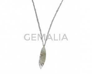 NECKLACE Leaf pendant silver plated