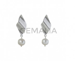 EARRINGS Silver plated and pearls