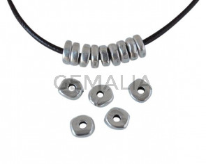 Metal bead Rondell Zamak. 5x1.8mm. Silver. Inn.1.5mm