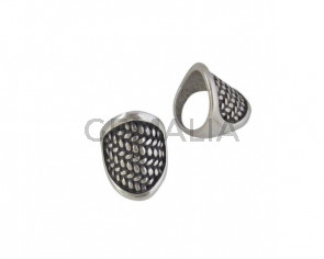 Metal Ring Zamak 29x21mm. Silver. Nº17