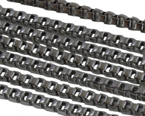 Stainless Steel Square Chain 1.5mm. Stainless Steel 304. Silver
