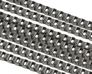 Stainless Steel Square Chain 1.2mm. Stainless Steel 304. Silver