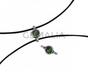 Swarovski and metal connector 10x5mm. Silver-Erinite.Inn.2m