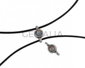 Swarovski and metal connector 10x5mm. Silver-Cappuccino Delite.Inn.2m