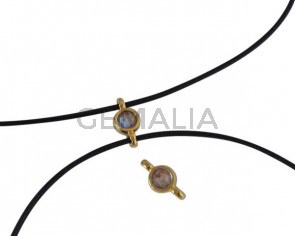 Swarovski and metal connector 10x5mm. Gold-Cappuccino Delite.Inn.2m