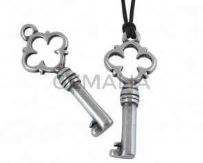 Zamak key pendant 40x16mm - Inn.2.6mm