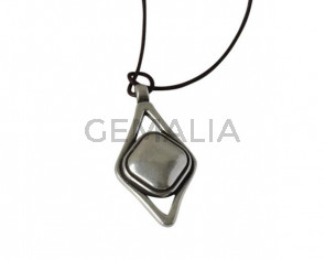 Pendant 58x31mm. Zamak. Silver. Inn.2.5mm