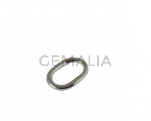 Oval zamak ring 43x28mm. Silver. Inn.32x17mm